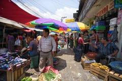 Saturday market in San Pedro la Laguna Guatemala Royalty Free Stock Photos