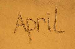 April  in the sand Royalty Free Stock Photography