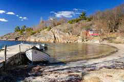 April season on Swedish sea coast Royalty Free Stock Photography
