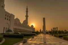 April 2017: Sheikh Zayed Mosque in Abu Dhabi Stockfotografie