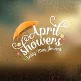 April showers bring May flowers design. EPS 10 vector royalty free stock illustration Royalty Free Stock Photo