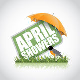 April showers icon stock illustration Royalty Free Stock Photos