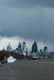 April showers over a London view Royalty Free Stock Photo