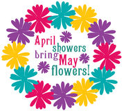 April Showers Stock Photo