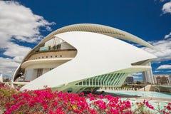 April 17, 2016 Stad av konster och vetenskaper, Valencia, Spanien Reina Sofia Arts Palace Arkivfoto