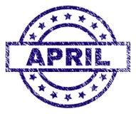 APRIL Stamp Seal texturisée grunge illustration libre de droits