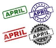 APRIL Stamp Seals texturisée grunge illustration de vecteur