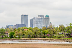 April 2015 - Stormy weather over Tulsa oklahoma Skyline Stock Image