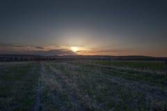 April Sunset en Nebraska Imagenes de archivo