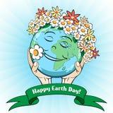 22. April Tag der Erde-Karte Lizenzfreies Stockbild