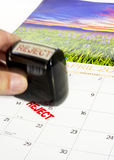 April 15 tax day and reject stamp Royalty Free Stock Photo