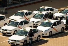 April-2-2010 taxi madrid Hiszpania Obraz Stock