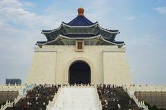 April 21, 2018 - Teipei, Taiwan: Okända turister som besöker medborgaren Chiang Kai-shek Memorial Hall arkivfoton