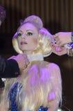 27 april - Tel Aviv, ISRAËL - Portret van een mooie schoonheid van blonde-model-OMC Cosmo, 2015, Israël Stock Foto's