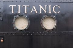 Titanic Experience Cobh, a themed attraction in the former White Star Line ticket office. April 18th, 2018, Cobh, county Cork, Ireland - Titanic Experience Cobh stock images