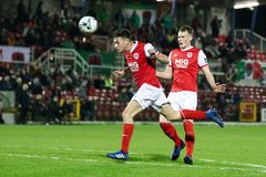League of Ireland Premier Division match between Cork City FC vs St Patrick`s Athletic FC. April 12th, 2019, Cork, Ireland - League of Ireland Premier Division stock photo