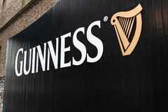 Gate at Guinness Storehouse, the brewery experience telling the tale of Ireland`s famous beer on St James`s Gate. April 12th, 2018, Dublin, Ireland - gate at Stock Photos