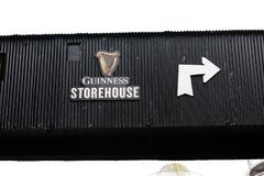 Surroundings of Guinness Storehouse, the brewery experience telling the tale of Ireland`s famous beer on St James`s Gate. April 12th, 2018, Dublin, Ireland Royalty Free Stock Photos