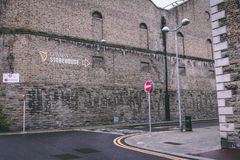 Surroundings of Guinness Storehouse, the brewery experience telling the tale of Ireland`s famous beer on St James`s Gate. April 12th, 2018, Dublin, Ireland Stock Photography