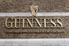Wall detail at Guinness Storehouse, the brewery experience telling the tale of Ireland`s famous beer on St James`s Gate. April 12th, 2018, Dublin, Ireland Royalty Free Stock Image