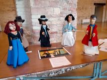 Exhibition and puppet show in the city of Ancona Stock Images