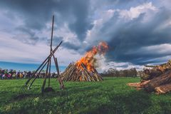 Easter Big Fire in Potsdam Royalty Free Stock Image
