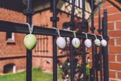 Easter Decorations in Potsdam Stock Image