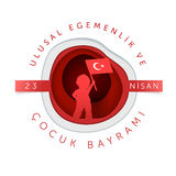 April 23 Turkish National Sovereignty and Children Day Royalty Free Stock Image