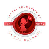 April 23 Turkish National Sovereignty and Children Day Royalty Free Stock Photos