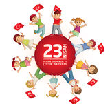 April 23 Turkish National Sovereignty and Childrens Day Royalty Free Stock Image