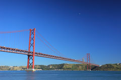 April twenty five bridge in Lisbon Stock Photos