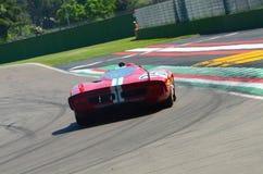 21 April 2018: Unknow drive Ferrari 512 S Coda Lunga prototype during Motor Legend Festival 2018. At Imola Circuit in Italy stock photo