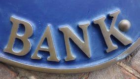 APRIL 2014: US, Bank-Zeichen Stockfotos