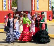 April van Sevilla Spain/1Seville Spanje/16 2013/Toerist en plaatselijke bewoners royalty-vrije stock foto