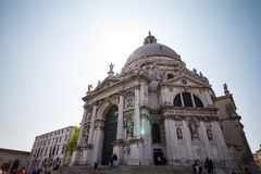 23. APRIL 2017 VENEDIG - ITALIEN Venecian Santa Maria della Salute Stockfoto