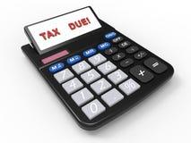 April-verschuldigde belastinguiterste termijn vector illustratie