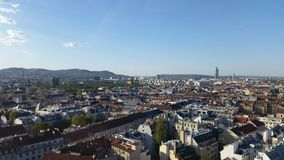 April in Vienna. View of the city of Vienna in April 2015 Stock Image