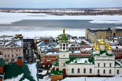 April view Church Nativity of John Precursor. Nizhny Novgorod Russia Stock Photos