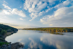 April view of the Dnieper. April view to the Dnieper, directly to the island Khortytsya Royalty Free Stock Images