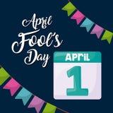 April voor de gek houdt dagontwerp stock illustratie