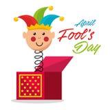 April voor de gek houdt de kaart van de dagviering Royalty-vrije Stock Foto's