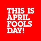 april voor de gek houdt typo Royalty-vrije Stock Afbeeldingen