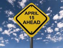 15 april vooruit stock illustratie