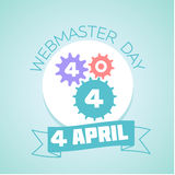 4 April Webmaster day. Calendar for each day on April 4. Holiday - Webmaster day . Icon in the flat style Vector Illustration