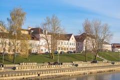 4 april, 2014 Wit-Rusland, Minsk, Drievuldigheidsvoorstad Royalty-vrije Stock Foto