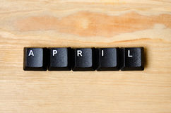 April-woord Stock Foto's