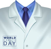 7 April World Health Day De witte artsen bedekken met een laag Stock Fotografie