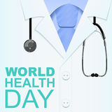 7 April World Health Day Tekst voor groetkaart royalty-vrije illustratie