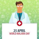 25 April. World Malaria day. Medical holiday. Vector medicine illustration. 25 April. World Malaria day. Medical holiday. Vector medicine illustration Royalty Free Stock Photography