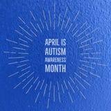 Aprile è mese di consapevolezza di autismo Fotografie Stock Libere da Diritti